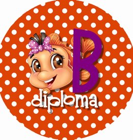 "Button ""Diploma B met vis"""