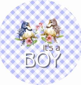 """Button """"Geboorte jongen"""""""