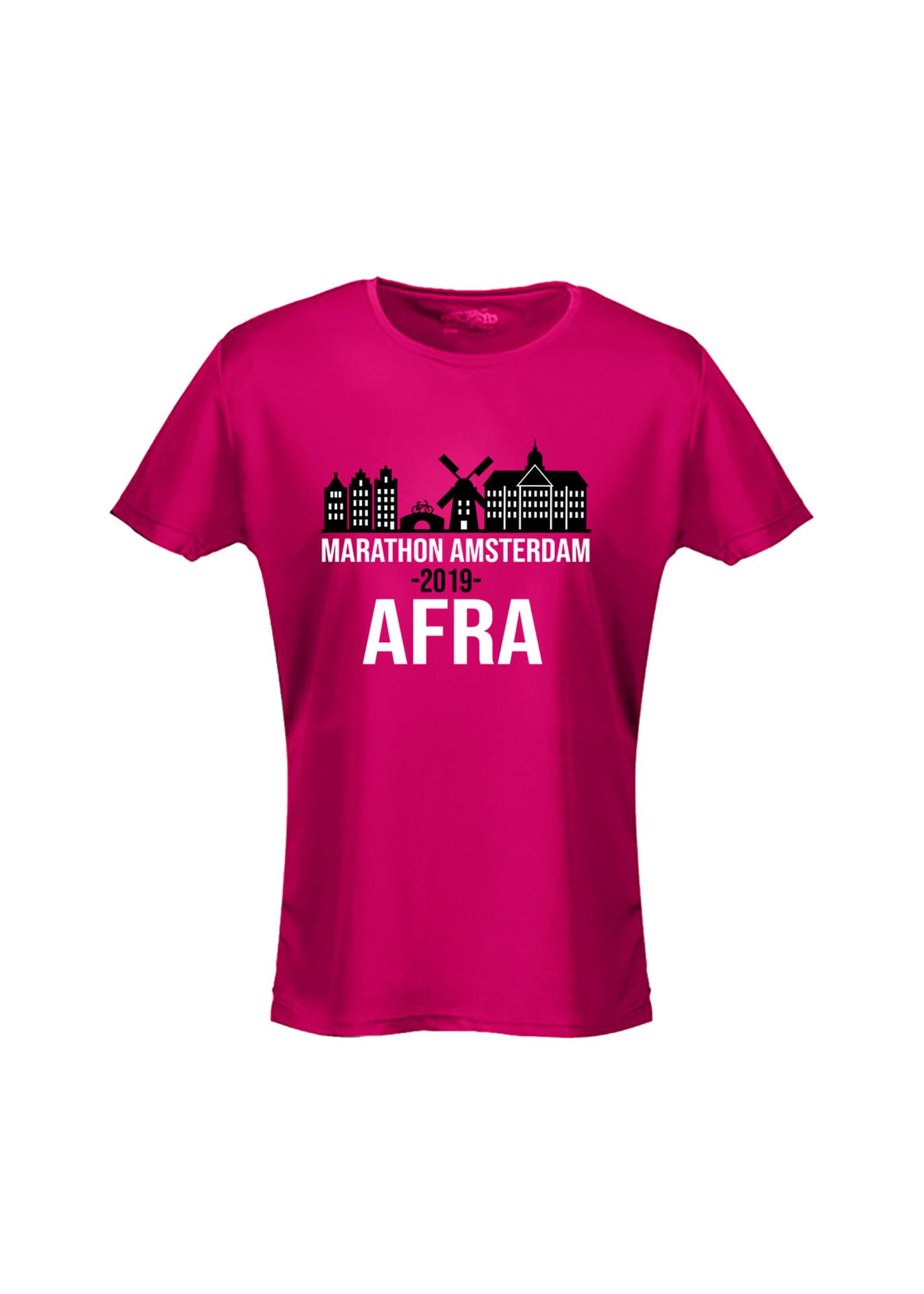 Marathon Amsterdam sportshirt met naam