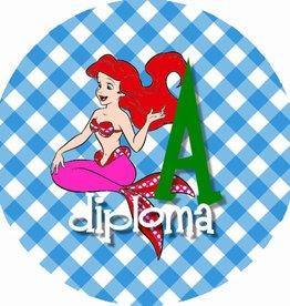 "Button ""Diploma A zeemeermin"""