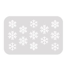 Schminksjabloon sneeuwvlokken