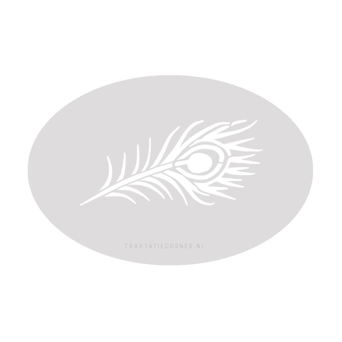 Schminksjabloon pauwenveer