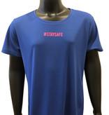 Sportshirt afstand - #staysafe - in kleur naar wens