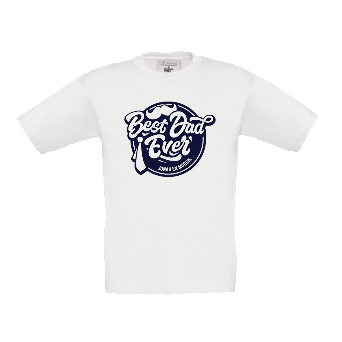 Best dad ever t-shirt met naam