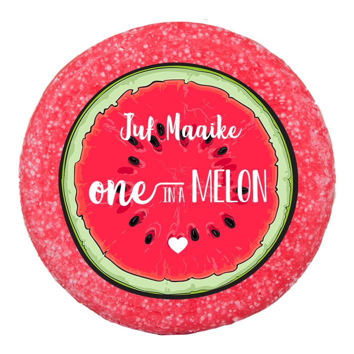 One in a melon shampoo bar met naam