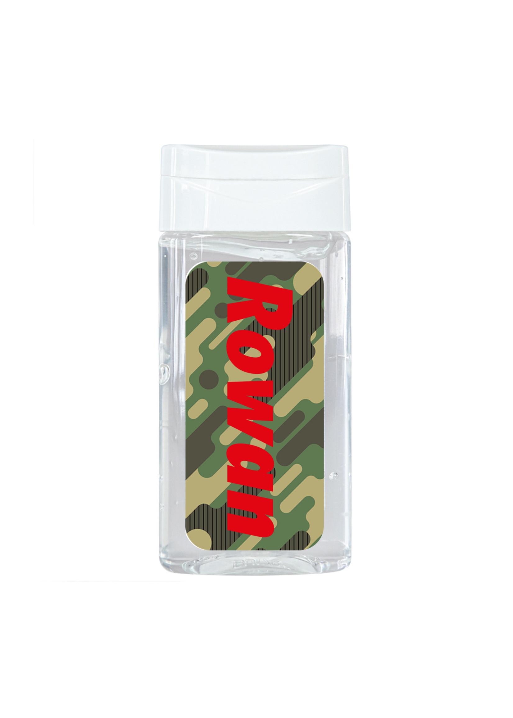 Antibacteriële handgel camouflage met naam