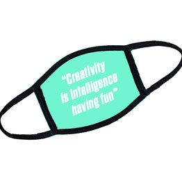 Mondkapje creativity is intelligence having fun