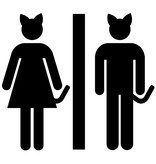 Sticker kattenbak