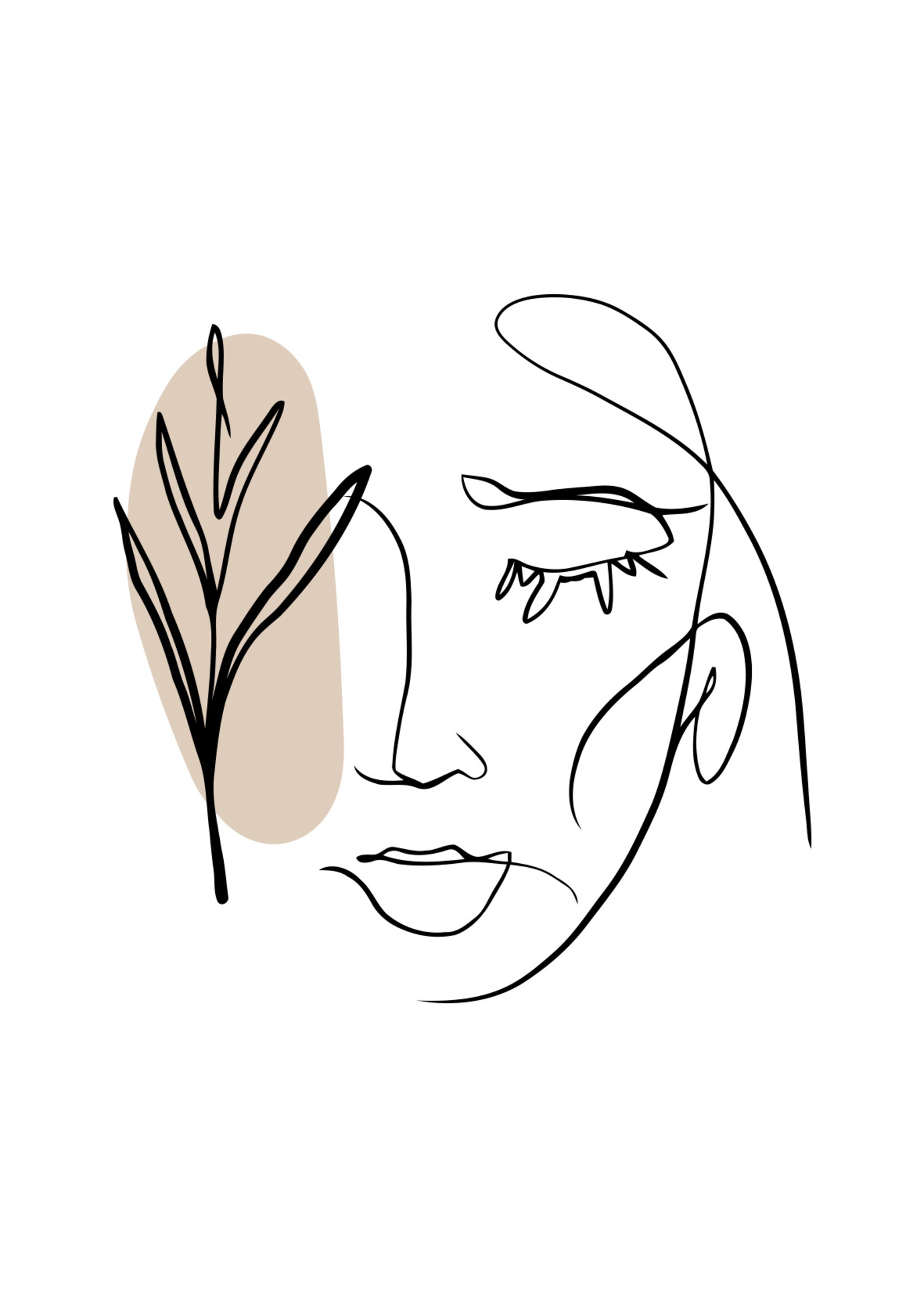Poster line drawing face - Copy