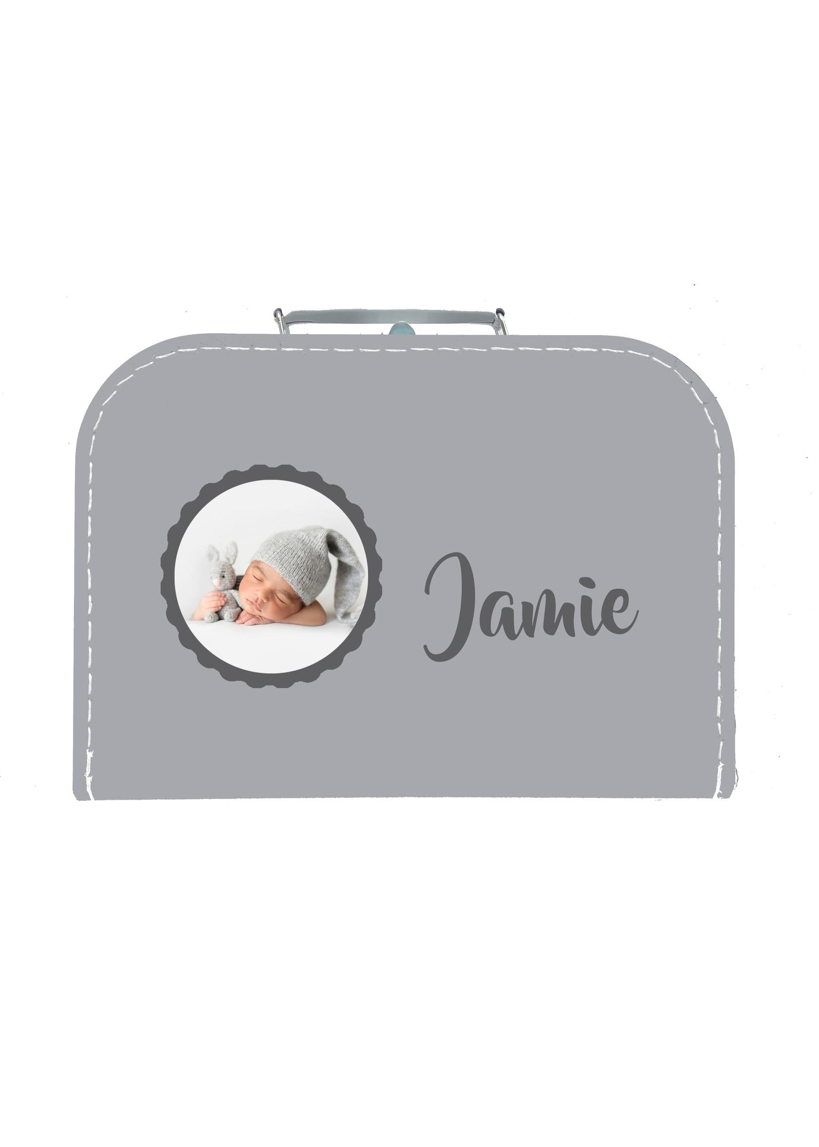 Kinderkoffer met naam en foto of andere afbeelding