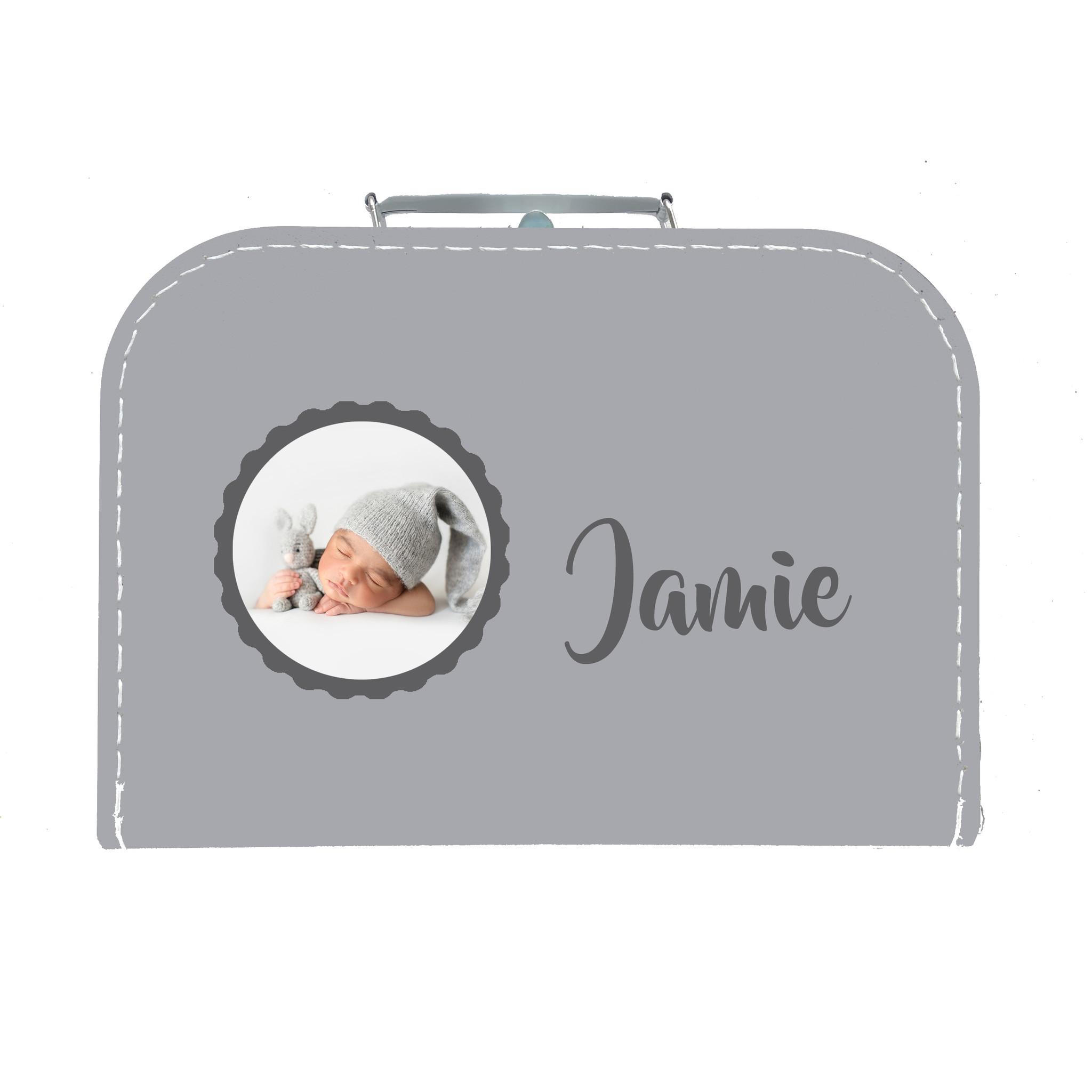Kinderkoffer met naam en foto