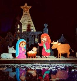 Skyline Venlo hout kerstgroep