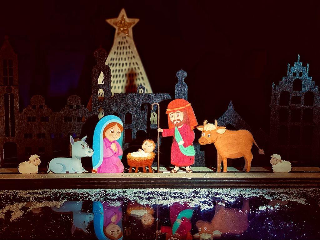 Skyline Venlo  hout met als optie kerstgroep