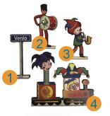 Skyline Venlo  hout met als optie carnaval