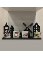 Skyline  hout met polaroid foto's