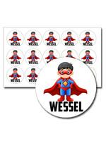Naamsticker superman - 45 stuks