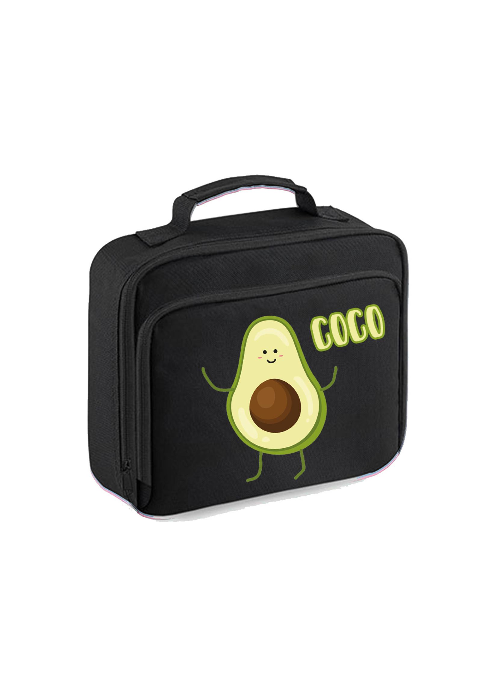 Koeltasje voor de lunch - avocado met naam
