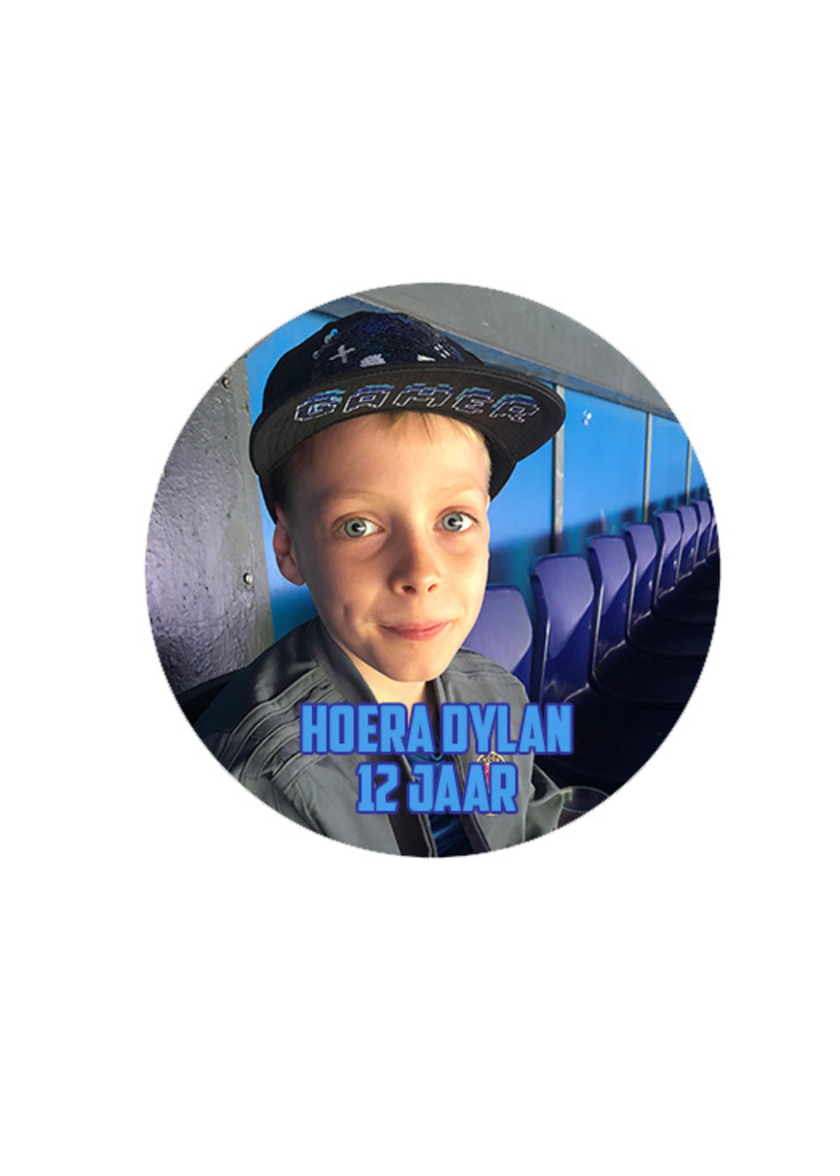 Sticker van vinyl met foto of logo -blauw
