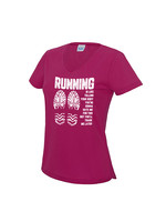 Hardloopshirt met v-hals - Running is like telling your body