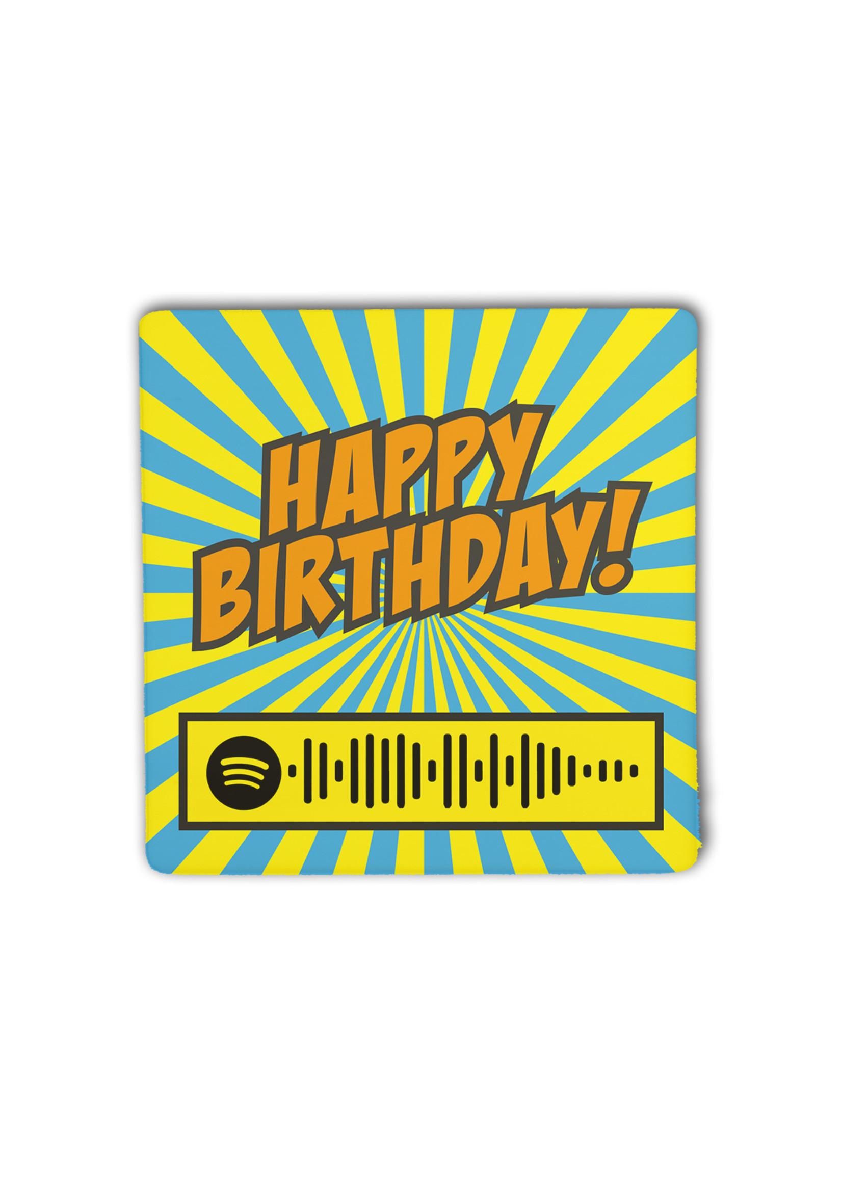 Houten Framed.beat Happy Birthday - Stevie Wonder (blauw)