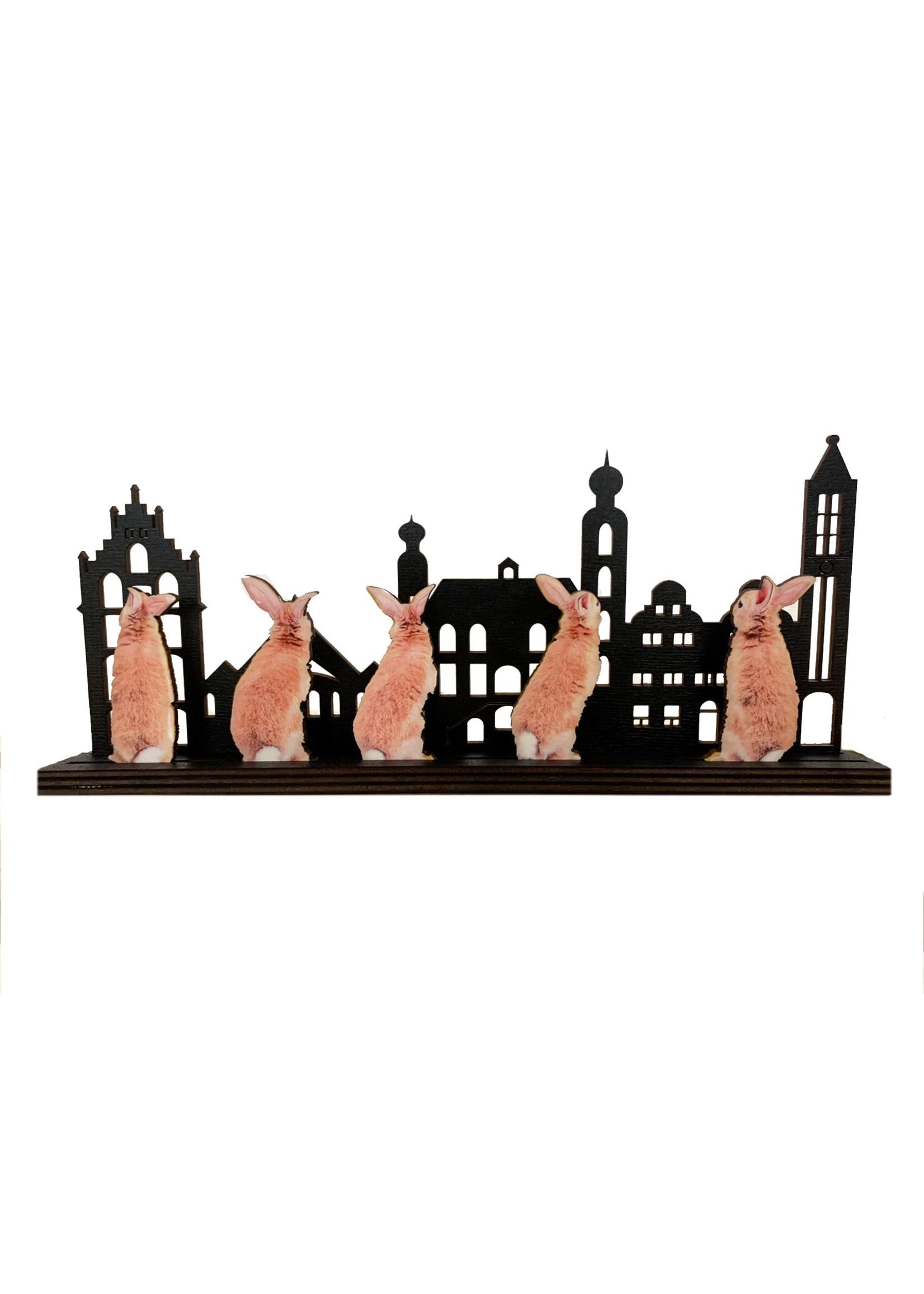 Inzetstukjes voor skyline thema Pasen - konijntjes
