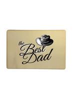 Houten kaartje vaderdag - the best dad