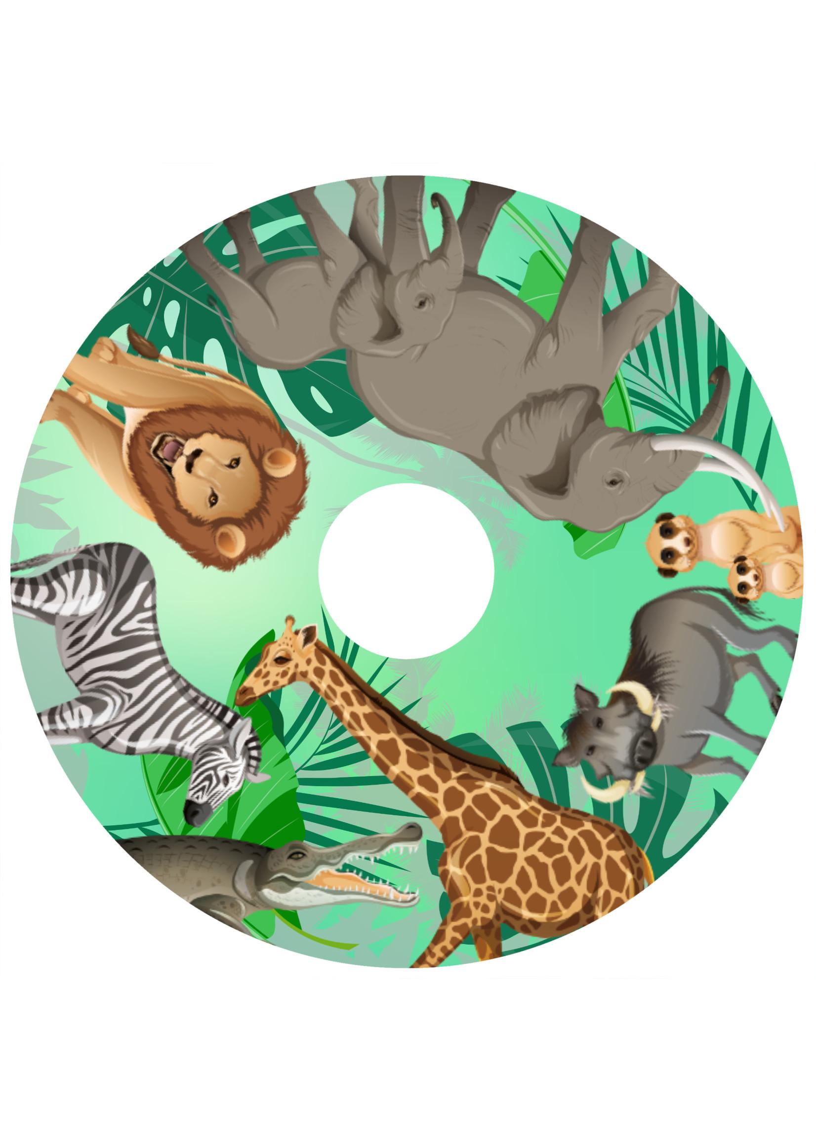 Rolstoelstickers voor spaakbeschermer - jungle 2