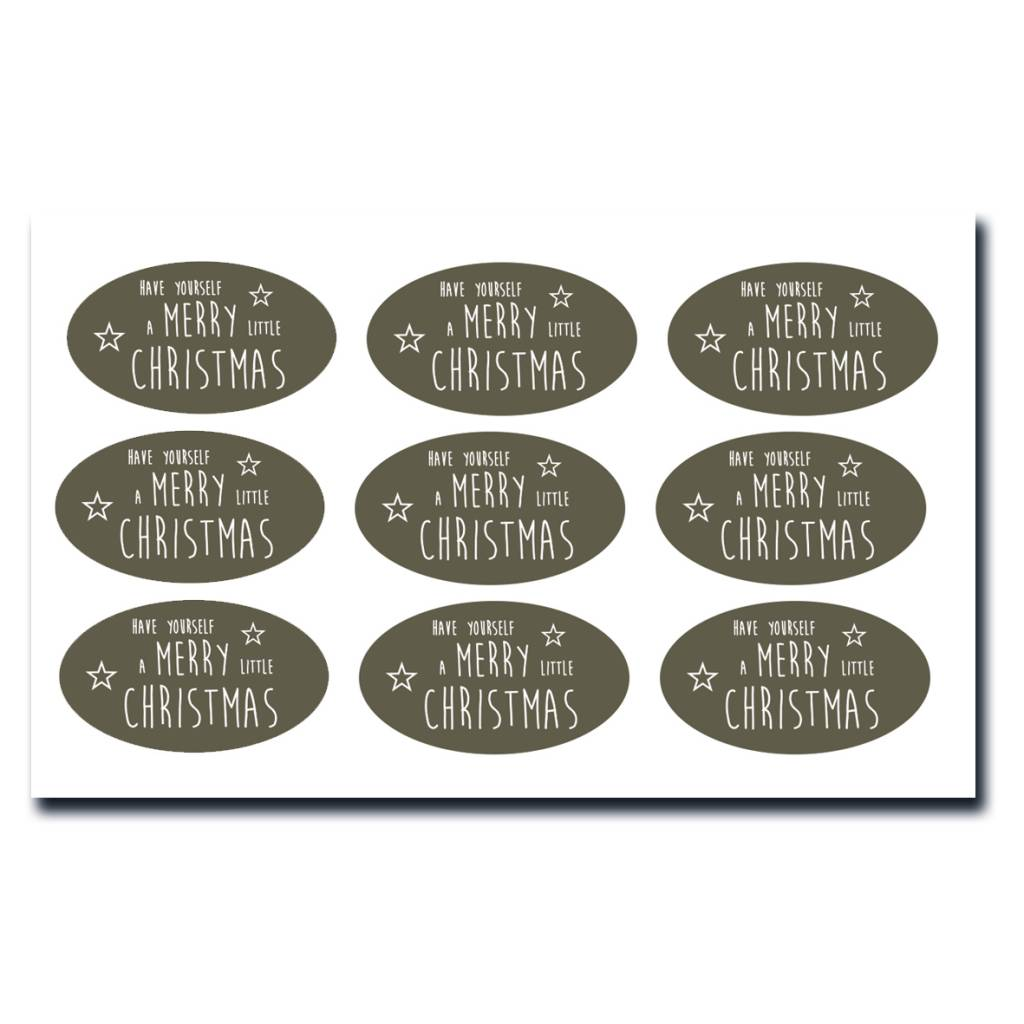 9 stickers - Have yourself a merry little christmas