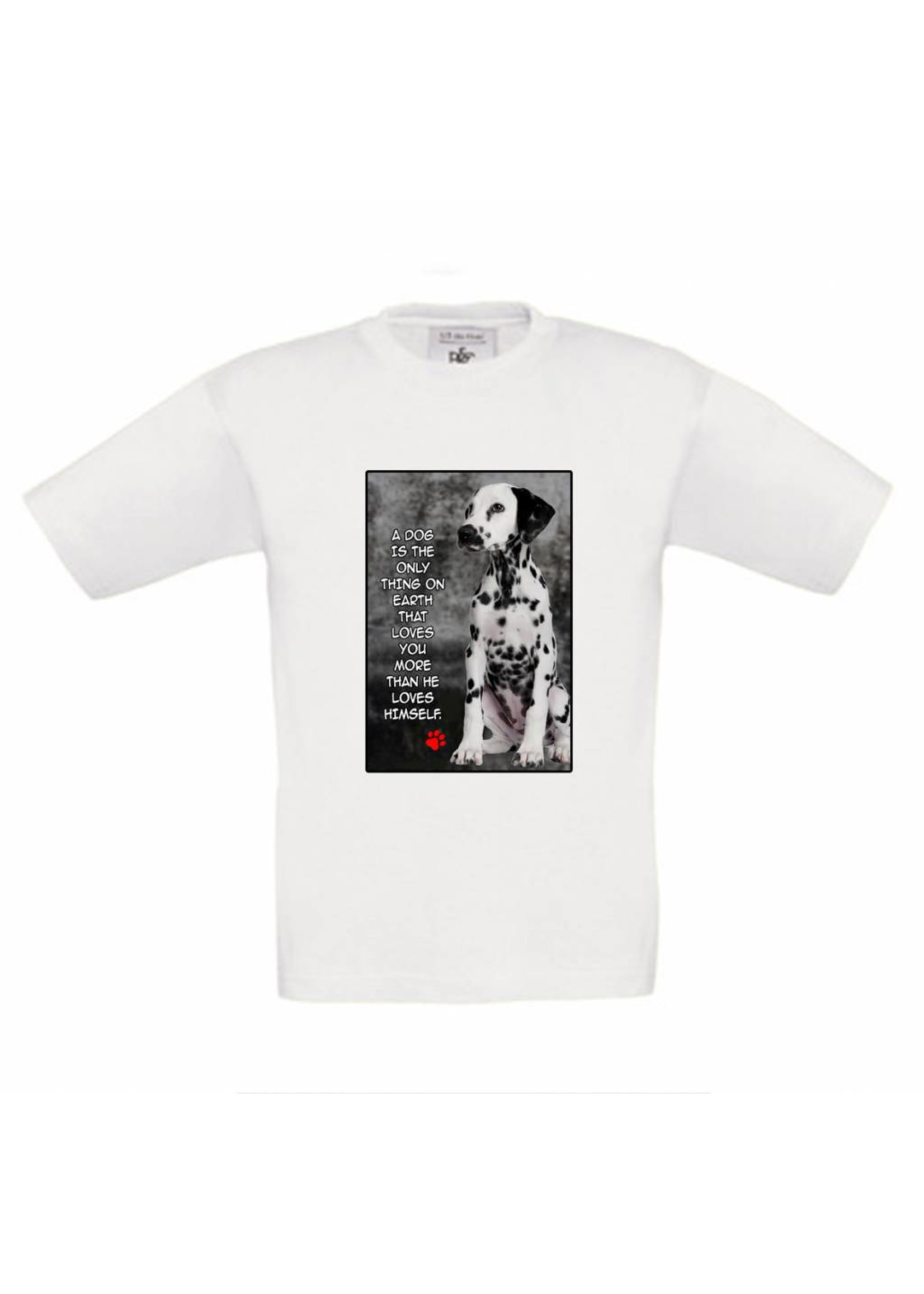 T-shirt dalmatier love quote