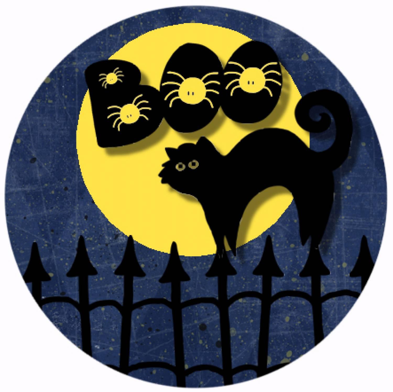 "Button ""Halloween 4"""