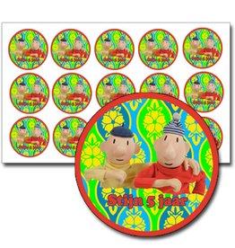 Stickers buurman en buurman met tekst - 90 stuks