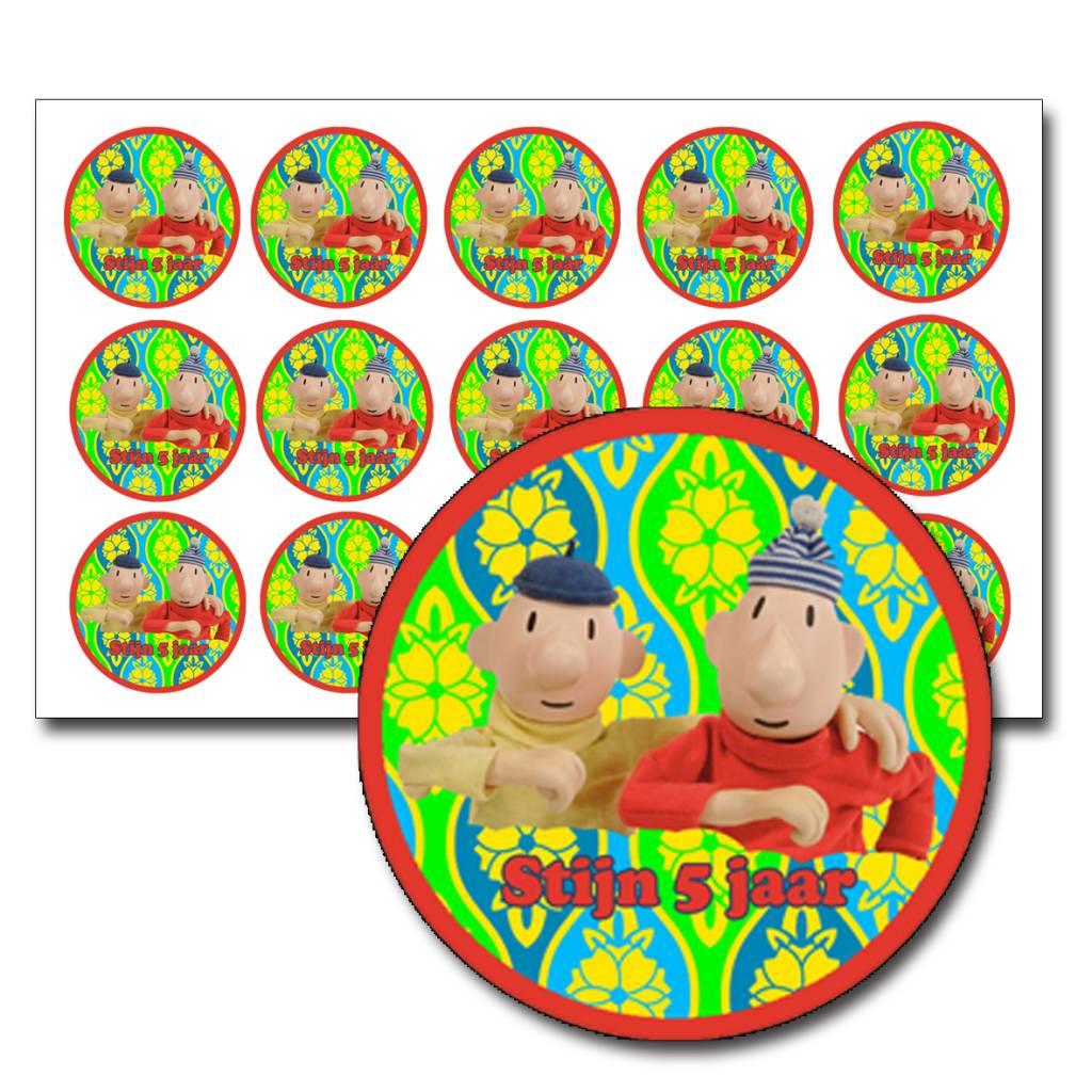 Stickers buurman en buurman met tekst
