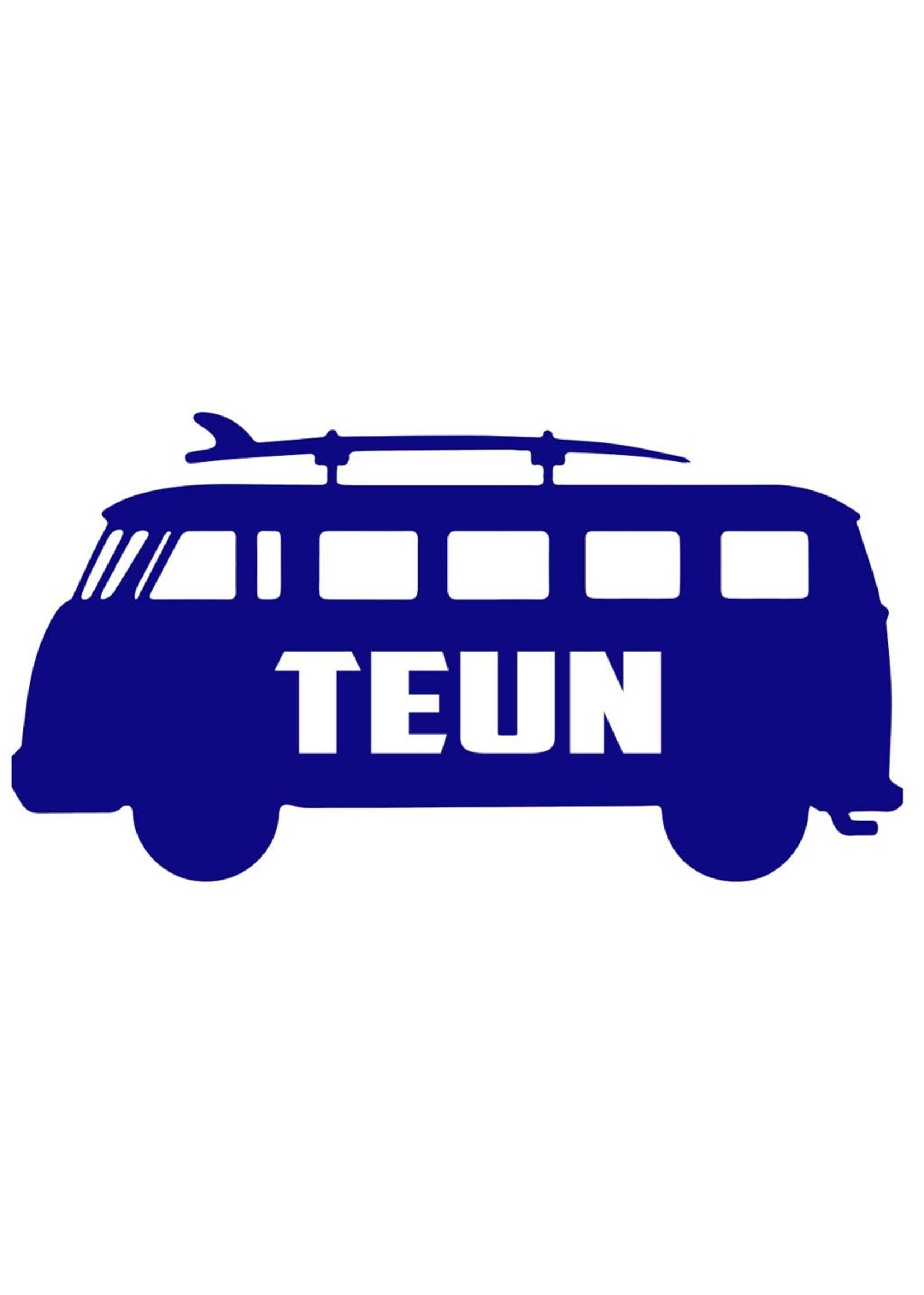 Muursticker volkswagenbus zijkant met naam
