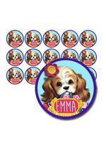 Naamsticker puppy - 45 stuks