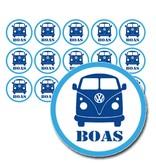 Naamsticker volkswagenbus - 45 stuks