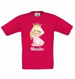 T-shirt prinses met naam