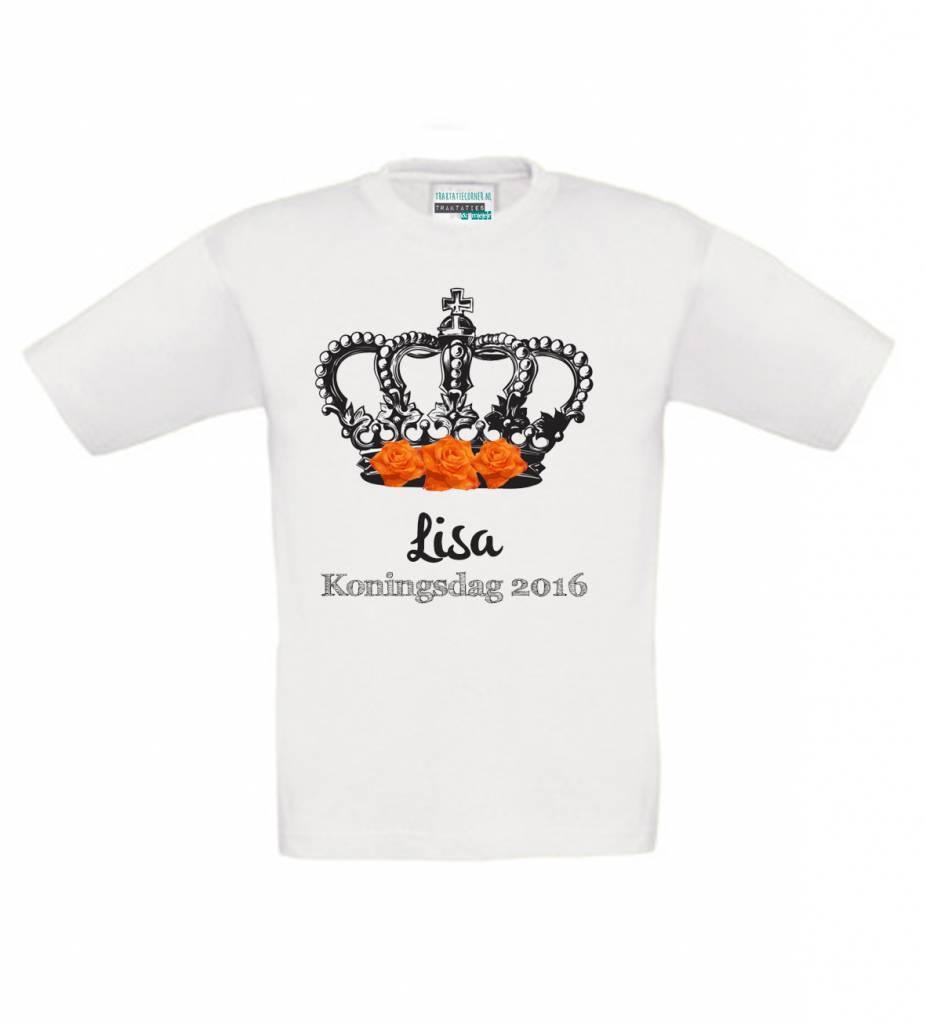 T-shirt Koningsdag met naam