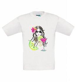 T-shirt meisje met cocktail