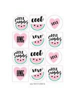 Stickers meloen - 12 set
