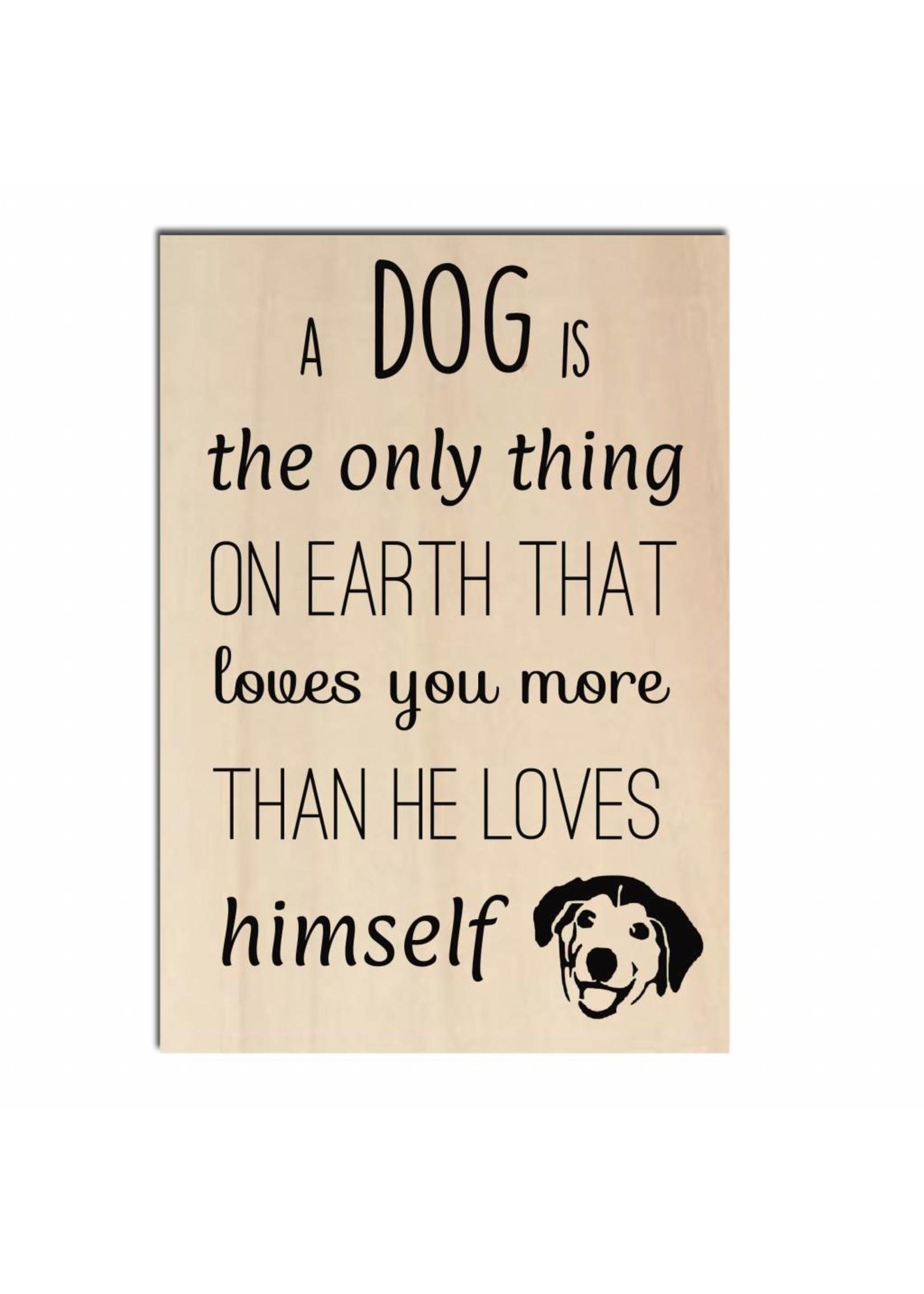Bedrukt hout - A dog is