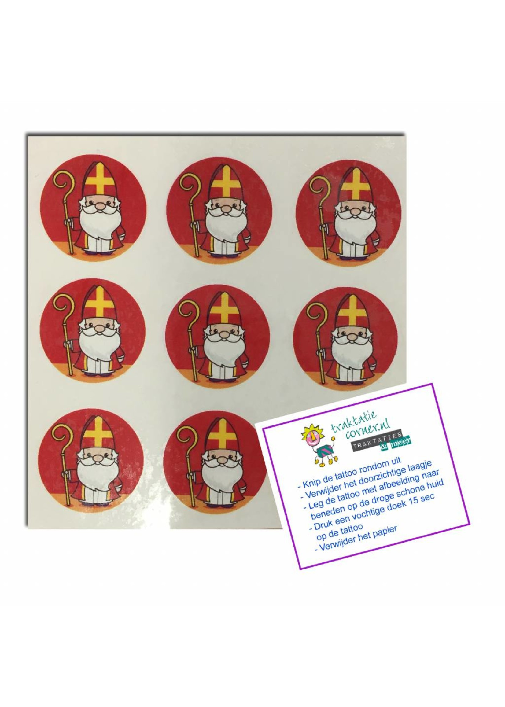 Sinterklaas tattoos - 9 stuks