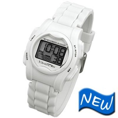 Vibra Lite Alarm-Uhr Mini Vibra Lite 12 weiß