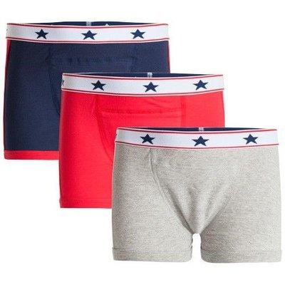 UnderWunder Jongens Boxer, blauw/grijs/rood (prijs per 3)