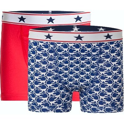 UnderWunder Boys boxer red/monkey (price per 2)