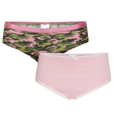 UnderWunder Meisjes Slip, camou/roze (setprijs)