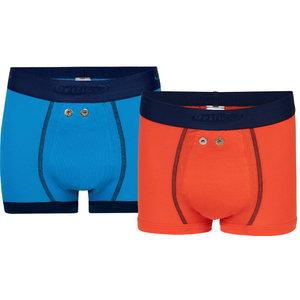 Urifoon Set sensorbroeken in blauw en oranje voor Jongens (set van 2)