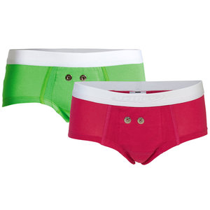 Urifoon Set sensorbroekjes in groen en roze voor Meisje (set van 2)