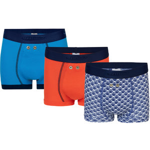 Urifoon Set van 3 sensorbroeken met blauw, oranje en monkey motief voor jongens