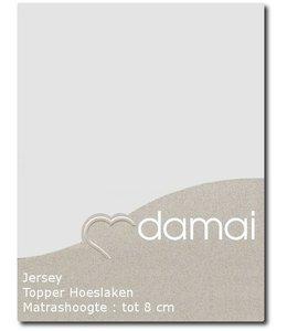Damai Topper Hoeslaken Double Jersey Light Grey