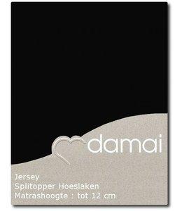 Damai Splittopper Hoeslaken Double Jersey Black